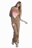 Wildfox Couture Beach Heart Gidget Sweatshirt in Tan