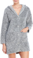 Jessica Simpson Hooded Button-Up Robe