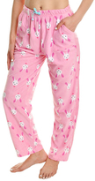 Angelina Pink Bunny Fleece Pajama Pants - Plus Too