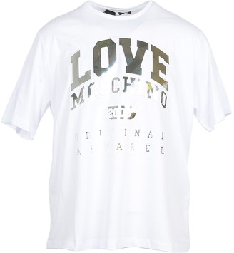 Love Moschino White & Gold Signature Cotton Women's T-Shirt