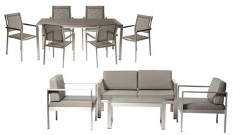 Lrg Rosecliff Heights KRN 6 Piece Rattan Complete Patio Set Rosecliff Heights Frame Color: Gray