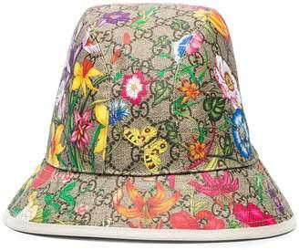Gucci Flora GG print fedora hat