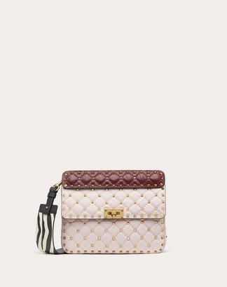 Valentino Garavani Medium Rockstud Spike.it Nappa Bag With Zebra Print Strap Women Rose Quartz 100% Lambskin OneSize