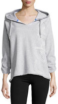 Calvin Klein Performance Hi-Lo Cotton-Blend Hoodie