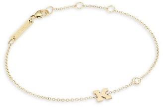 Zoë Chicco 14K Yellow Gold & Diamond Initial Bracelet