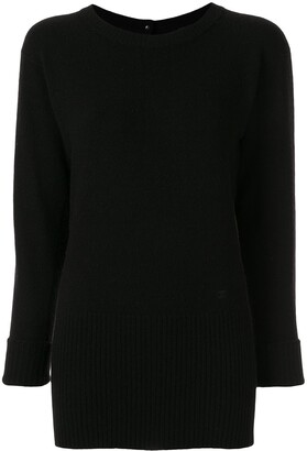 Chanel Pre-Owned cashmere backwards buttoned jumper