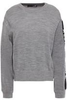 Love Moschino Jacquard-trimmed Melange Wool-blend Sweater
