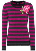 Dolce & Gabbana Embroidered wool and cashmere sweater