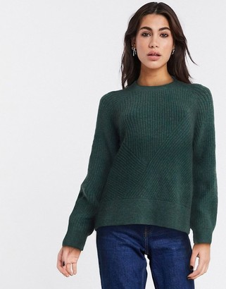 Weekday Delina sweater in forest green