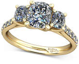 Macy's Diamond Shoulder and Accent Stone Mount Setting (1/2 ct. t.w.) in 14k Gold