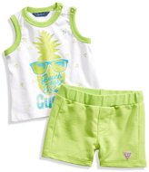 GUESS Pineapple Tank and Shorts Set (0-9m)