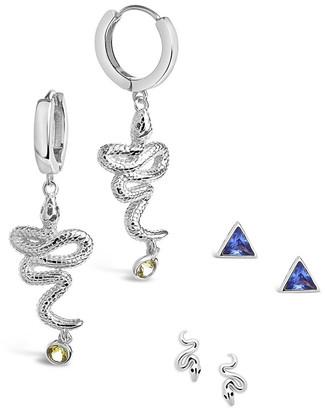 Sterling Forever Silver Cz Earrings