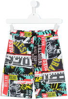 Diesel multi-print swim shorts