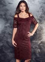 Kaleidoscope Lace Cold Shoulder Dress