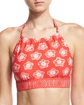 MICHAEL Michael Kors Floral-Print Halter Swim Top, Pink