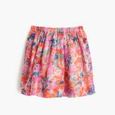 J.Crew Girls' pull-on skirt in brushstroke marigold