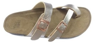 Time and Tru Womens Footbed Slide