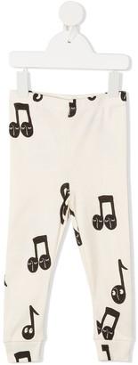 Mini Rodini Music Note Print Organic-Cotton Trousers