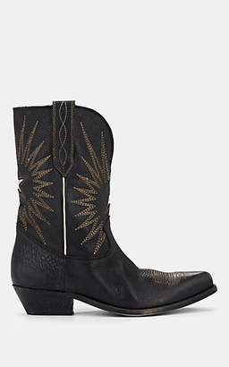 Golden Goose Women's Wish Star Grained Leather Ankle Boots - Black