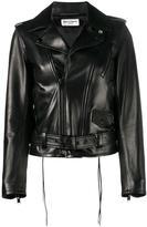Saint Laurent L17 motorcycle jacket - women - Cotton/Lamb Skin/Polyester/Cupro - 38
