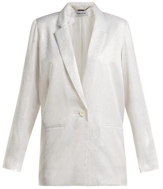 Adriana Iglesias Single-breasted Silk-jacquard Blazer - Womens - White