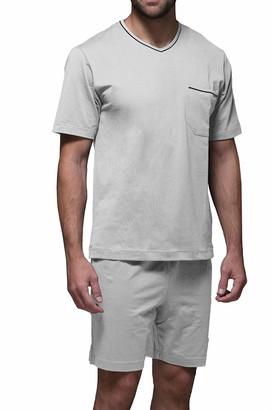 ZD ZERO DEFECTS Men's Pijama Corto De Algodon Giza Pajama Set