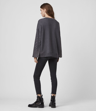 AllSaints Star Stud Sweatshirt