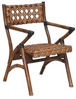 """Jeffan Sahara Folding Arm Chair Brown 32"""""""