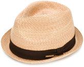DSQUARED2 fedora hat - men - Straw - S