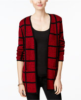 Charter Club Windowpane Open-Front Cardigan, Only at Macy's