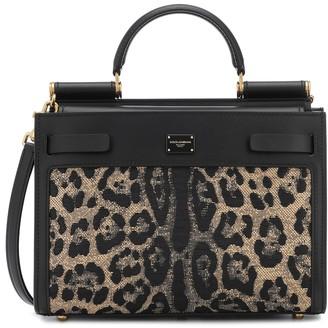 Dolce & Gabbana Sicily 62 Small leopard jacquard tote