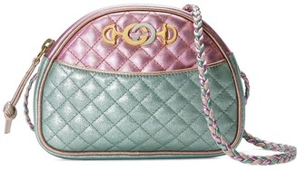 Gucci pink and blue Laminated leather mini bag