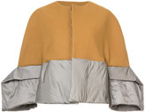 Rick Owens padded oversized cuffs jacket - women - Silk/Cotton/Nylon/Wool - 38