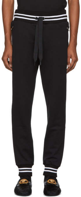 Dolce & Gabbana Black Logo Plaque Lounge Pants