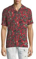 Just Cavalli Bandana-Print Short-Sleeve Shirt