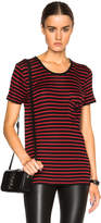 Saint Laurent Classic Crew Neck Striped Tee