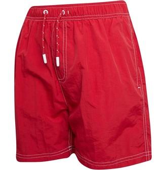 Kangaroo Poo Boys Plain Taslan Swim Shorts Red