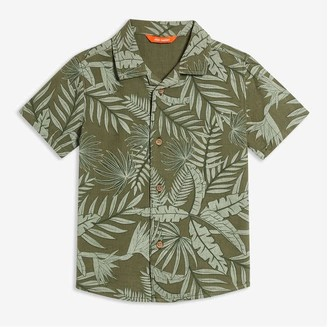 Joe Fresh Toddler Boys' Print Shirt, Army Green (Size 5)