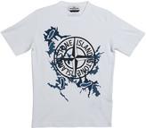 Stone Island Boy's Compass Logo Short-Sleeve Tee, Size 10-12