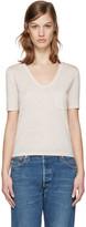 Alexander Wang Beige Jersey Pocket T-Shirt