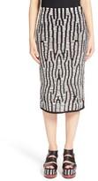 Proenza Schouler Women's Leather Knit Pencil Skirt