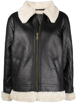 Alpha Industries Faux-Shearling Jacket
