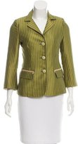 Alberta Ferretti Striped Notch-Lapel Blazer