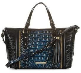 Brahmin Mini Lazuli Melbourne Asher Embossed Leather Crossbody Bag