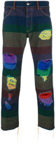 Palm Angels distressed rainbow jeans - men - Cotton/Polyester - 27