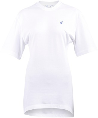 Off-White Logo Embroidery Jersey T-Shirt