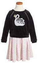 Toddler Girl's Pippa & Julie Swan Tunic & Dress Set