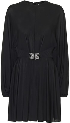 Valentino Embellished jersey minidress