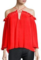 Alice McCall What Do You Mean Elasticized Off-The-Shoulder Top