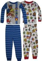 Nickelodeon Paw Patrol Boys' 4-Piece Cotton Pajama Set